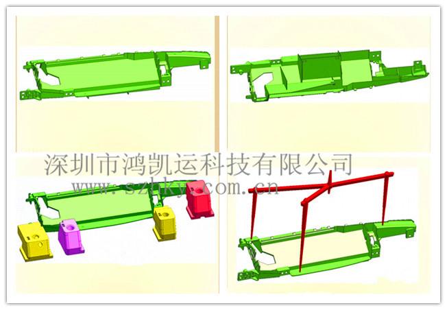 深圳注塑模具制造厂实例解析—滑块走顶针以及前模斜